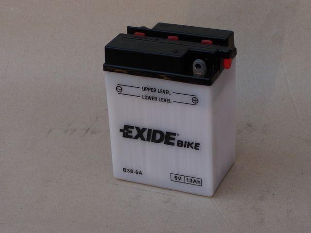 EXIDE EXIDE BIKE baterie 6V, 7Ah, bez náplně B38-6A