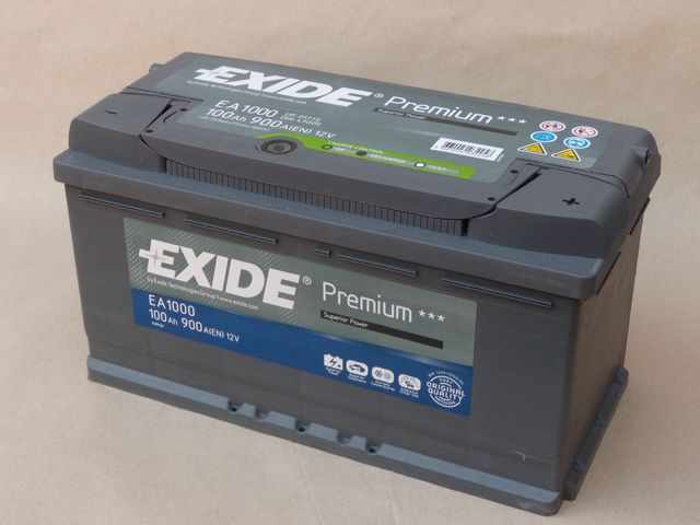 EXIDE EXIDE baterie 12V 100Ah, 900A, PREMIUM EA1000