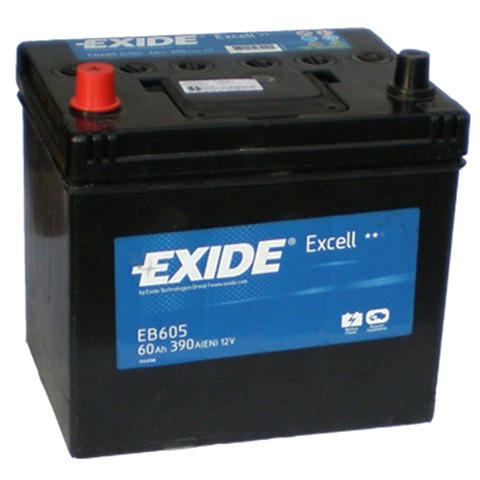 EXIDE EXIDE baterie 12V 60Ah, 390A, EXCELL EB605