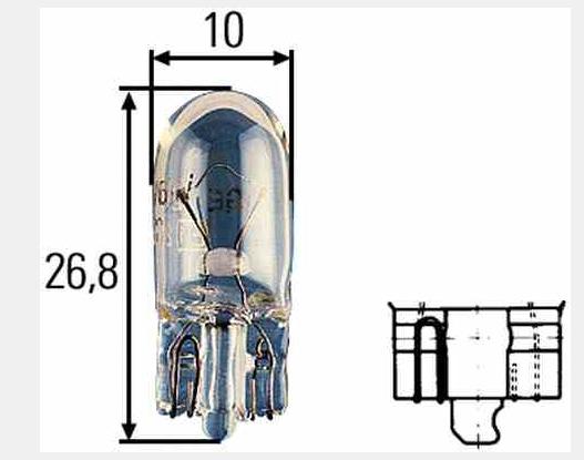 HELLA ZAR W3W 3W 12V W2.1X9.5D 8GP003594-141